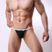 Men Brave Person Large Black Sexy Nylon Spandex Thong G String Lingerie Gay UK