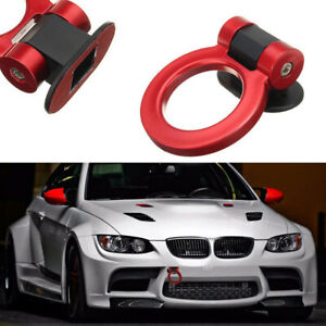 Red Plastic Front Rear Bumper Tow Hook Trailer Tow Bar For JDM Racing Car Decor