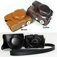 Leather Camera case bag cover pouch strap Grip for Panasonic Lumix DMC-LX7