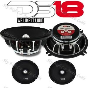 2 DS18 PRO FR5NEO 5.25″ Neodymium Midrange Speaker 400W Max 4 Ohm Neo (Set of 2)