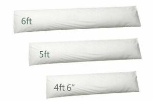 Duck Feather & Hollowfibre Cotton Bolster Pillow Cushion Body Pregnancy Sport