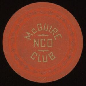 $1 McGUIRE NCO NEW JERSEY CASINO POKER CHIP CASINO CHIP
