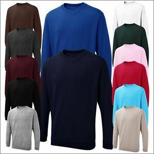 Uneek Mens Sweatshirt Plain Jumper Casual Work Wear Pullover Drop Shoulder TOP