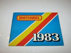 Matchbox Superfast Catalogue 1983 USA Edition Near Mint