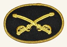 American Civil War ACW Cavalry Enlisted Crossed Swords Hat Large Badge 10x6cms