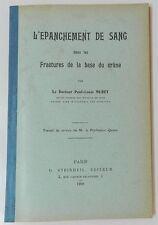 RARE : L'EPANCHEMENT DE SANG DANS LES FRACTURES DE LA BASE DU CRANE - MURET 1909