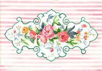 OrIgInAl FoLk ART WaTeRCoLoR PaInTiNg VinTaGe ShAbbY ChIc PiNk RoSes FlOwEr
