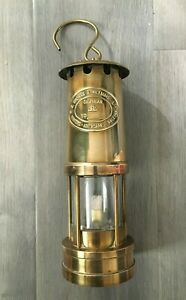 Brass Miners Lamp E Thomas & Williams Aberdare Wales ETW Fully Working No 27541