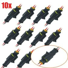 10Pairs Car Waterproof Electrical Wire Cable Automotive Connector 2Pin Way Plug