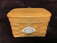 New ListingLongaberger - Classic Stain Recipe Basket / Woodcraft Lid / Protector Combo +