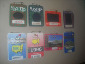 Masters Badges (1991,92,93,94,95,96,98,99)