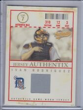 IVAN RODRIGUEZ 2005 Fleer Authentix Jersey General Admission Jersey #IR (C3379)