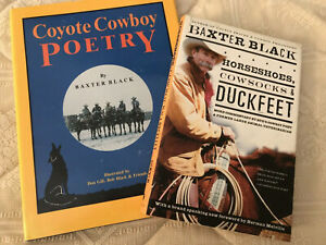 2 BKS,=HORSEHOES,COWSOCKS,DUCKFEET AND COYOTE COWBOY POETRY BY BAXTER BLACK