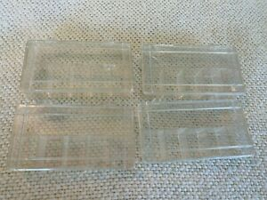Vintage Plastic Fishing Container Lot of 4