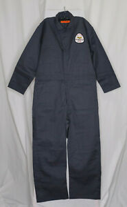 Red Cap #CT10CH4, Zipped-Front, Size 44-RG, Men's Work Coverall's, Gray, NEW
