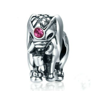 Silver Elephant European Cz Charm Crystal Spacer Beads Fit Necklace Bracelet 007