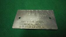 Jeep Willys CJ3A 1948 and later Body data plate R1060 US Made! (P85)