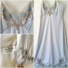 VTG Van Raalte Slip Embroidered Flowers Nylon Deadstock New Size 34 ❤️