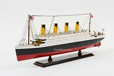 "RMS Titanic Ocean Liner 25"" - Handmade Wooden Model Ship NEW"