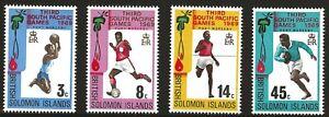 Solomon Islands Scott #198-201, Singles 1969 Complete Set FVF MNH