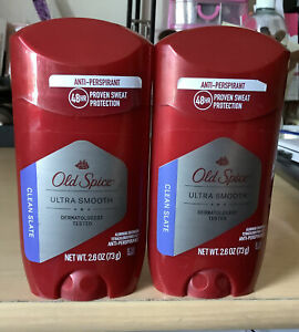 Old Spice Ultra Smooth, Clean Slate, Solid Deodorant, 2.6oz New X 2 Exp 10/21