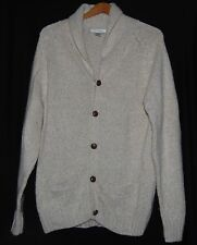 Vintage Turnbury Mens Cardigan Sweater Cream Button Down M 36 Wool Blend