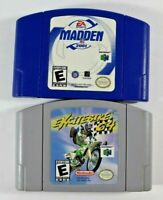 Excitebike 64 (Nintendo 64, 2000) + Madden 2001 N64 Authentic Cleaned