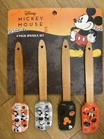Halloween Disney Mickey Mouse 4 Pack Spatula Set NEW