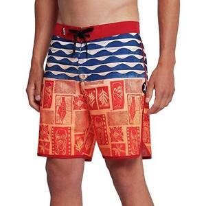 "Men's Hurley Phantom TAHITI 18"" Board Shorts MBS0008149 Hawaii Aloha Swim Trunks"
