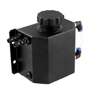 Car Water Coolant Radiator Overflow Recovery Tank Bottle Aluminum 1L Universal