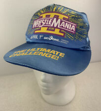 VINTAGE WWF WRESTLEMANIA VI 6 TRUCKER HAT CAP THE ULTIMATE CHALLENGE SKYDOME
