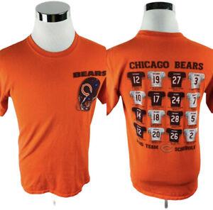 Chicago Bears NFL 2010 Team Schedule Reebok Orange T-Shirt Men's Medium M
