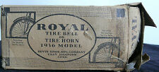 ANTIQUE ROYAL BICYCLE HORN BELL W/ BOX 1936