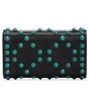 Inc International Concepts Flaviee Black Hard Clutch Turquoise Stud Shoulder Bag