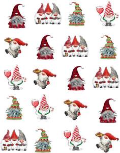 Christmas Gnomes Waterslide / Water Transfer Nail Decals /Nail Art