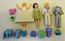 Polly Pocket Boy doll w/ two tuxedos +1 Girl w/10 Clothes + 2003 McDonald's doll
