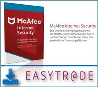 McAfee Internet Security 2018 - 3 PC´s / 1Jahr Vollversion ESD