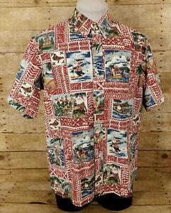 Reyn Spooner Mele Kalikimaka Hawaiian Shirt Mens Medium Christmas 2020