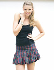 Polyester Plaids & Checks Mini Regular Size Skirts for Women