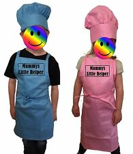 PERSONALISED Junior Kids Play Set Little Children's Chef's Cooking Apron and Hat