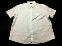 Untuckit Mens White Short Sleeve Button Front Shirt Size 3XL
