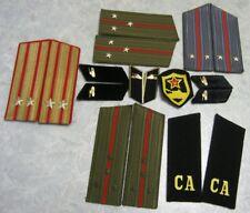 SOVIET UNIFORM COLLAR TABS SHOULDER STRAPS CHEVRON for uniform of TANKMAN