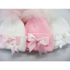 Bebé Niñas rumanos de algodón pantalones pañal cubre Con Volantes Rosa arco del organza Y Satinado