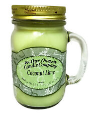 Coconut Lime Scented Candle in 13 oz Mason Jar by Our Own Candle Company