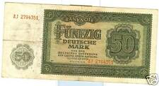 OLD GERMAN  DEMOCRATIC REPUBLIC 50 MARK 1948