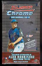 2005 Bowman Chrome Baseball Hobby Box Justin Verlander RC