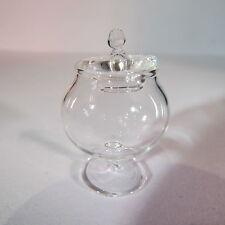 Pot en verre avec couvercle ~ ~ miniature maison poupée 1/12 scale