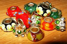 SET OF EUROPEAN CHARM BEADS MURANO GLASS MIX2