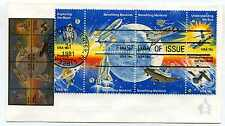 1912-19 Space Achievements, Andrews, block of 8, FDC