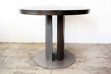 Industrial Machine Age Steel Dining Table, Rehab Vintage Original